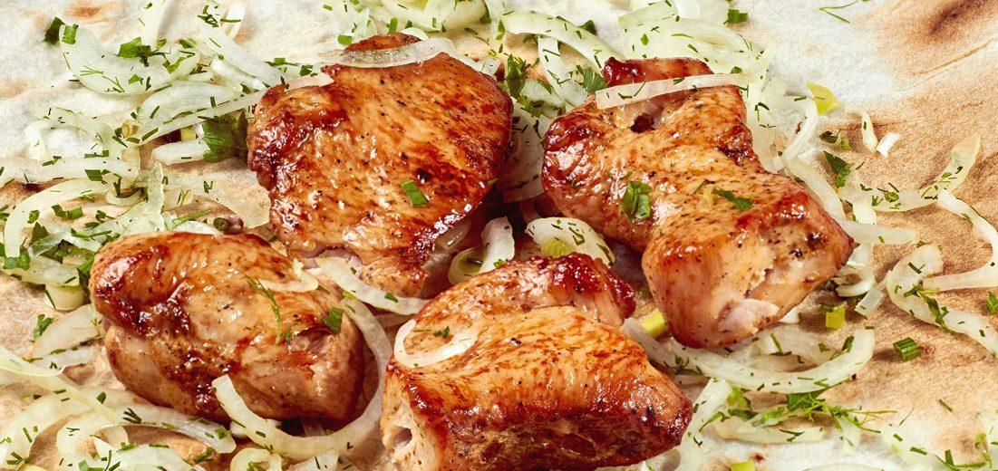 Шашлык из куриного мяса